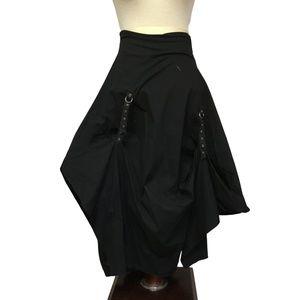 gothic steampunk lagenlook pickup skirt XS